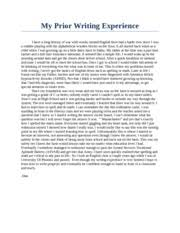 cause and effect essay stress the pressures placed on students  1 pages my prior writing experience