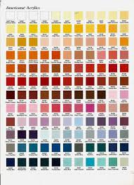 Americana Chalk Paint Color Chart High Resolution Americana Paints 5 Americana Acrylic Paint