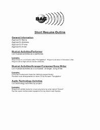 Short Simple Resume Examples 60 Elegant Sample Of Simple Resume Format Resume Sample Template 4