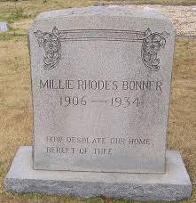 Millie Rhodes Bonner (1906-1934) - Find A Grave Memorial