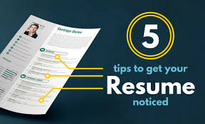 5 tips Resume Blog