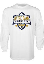 Bowl Bound College Football Charts Notre Dame Fighting Irish White 2018 College Football Playoff Bound Long Sleeve T Shirt 571812