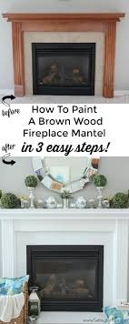 learn how to paint a wood mantel in 3 easy steps the diy paint tutorial