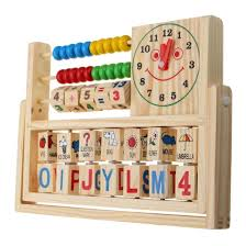 Wooden Math Games Board Games Computation Frames Learning Bead Abacus Computing 74