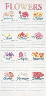 Month Flowers Chart Traditional Flower Chart In Tube 9780687062218 Amazon Com