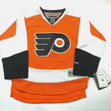 Reebok Hockey Jersey Sizing Chart Youth Philadelphia Flyers Hockey Jersey Size Youth S M Reebok