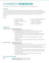 Examples Of Summaries For Resumes