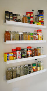 Ikea ledges make the perfect spice rack! #ikeahack