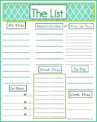 Daily To Do List Template Weekly Task Calendar Printable Free