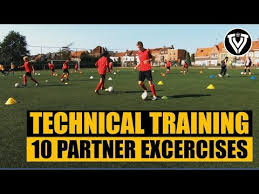 Technical Football Training | 10 Partner Exercises | U11 - U12 - U13 - U14  - YouTube in 2020 | Football training, Partner workout, Soccer training