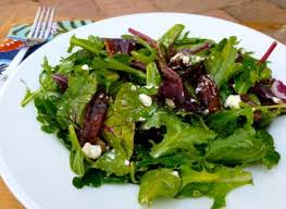 simple mixed green salad. Beautiful Simple Mixed Green Salad With Goat Cheese And Dates And Simple O
