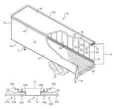 patent us trailer side wall having laminate panel patent drawing
