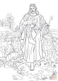 Shepherd Coloring Page With The Lord Is My Shepherd Coloring Page