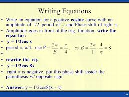 14 writing equations