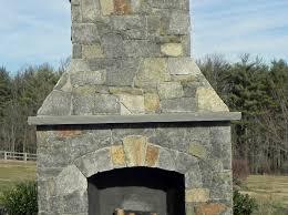 outdoor thin stone veneer fireplace
