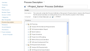 Usage Of Process Description To Define Process Definition Of The