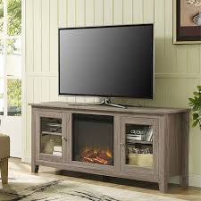 walker edison 60 inch tv stand with electric fireplace ash grey inside tv designs 16