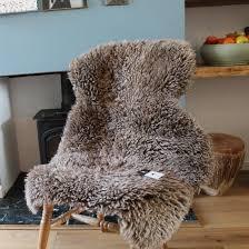 curly sheepskin rug taupe
