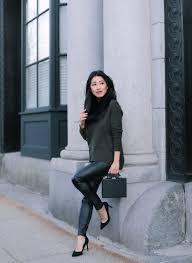 faux leather legging pants petite fashion blog