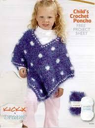Childs Crochet Poncho Pattern