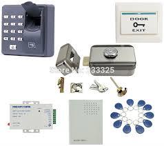 x6 fingerprint access control rfid keypad 125khz electric control x6 fingerprint access control rfid keypad 125khz electric control door lock for 12v dc access control system kit 20 tags in access control kits from