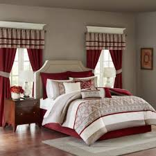 Buy Red Comforters from Bed Bath & Beyond & Madison Park Essentials Jelena 24-Piece California King Complete Comforter  Set in Red Adamdwight.com