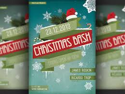 christmas event flyer template christmas bash party flyer template by hotpin dribbble dribbble