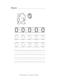 Cijfer 0 Werkblad Om Te Printen