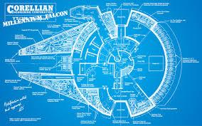 Star Wars blueprints Millennium Falcon wallpaper 1680x1050