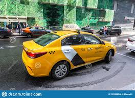 Modern Car Of Yandex Taxi On The City Street Editorial Photo - Image of  business, industry: 159358046