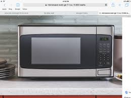 ge microwave oven 1 1 cu 950 watts stainless steel 65 00