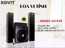 Dàn âm thanh KOVIT KS 839 - loa cây 3.1 - 4 loa - Có bluetooth, khiển từ xa  - Bass khoẻ, treble sáng