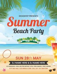 Luau Flyer End Of Summer Luau Flyer Template Summer Beach Party Free Flyer Psd