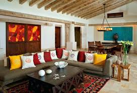 colorful modern furniture. Modern Mexican Furniture Colorful Eclectic Living Room Mid Century R