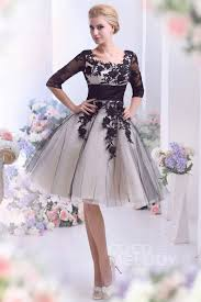 a line square half sleeve knee length tulle wedding dress w appliques