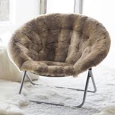 wolf faux fur hang a round chair pbteen within furniture decor 14