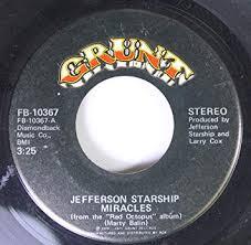 Jefferson Starship 45 RPM Miracles / Al Garimasu (There Is Love) -  Amazon.com Music