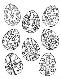 Easter Eggs Printable Coloring Pages Egg Printable Page Free At
