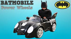 unboxing new batman battery powered ride on batmobile 6v test drive park playtime fun ckn toys you