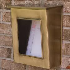 vertical wall mount mailbox. Could Be BetterDebbie LivafiLike The Size And Look Of Mailbox, However, Glass Panel Is Cheaply Installed Mailbox Did Not Come With A Vertical Wall Mount