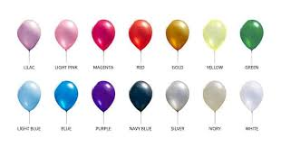 Balloon Color Chart Custom Latex Balloons Csa Balloons Custom Balloon Printing