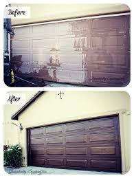 garage door makeover diy before and after
