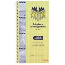 telephone message book spirax no 558 carbonless designer telephone message book