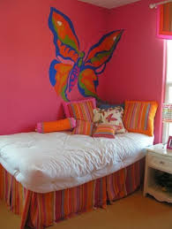 pink wall paintSweet Butterfly As Paintings Ideas On Pink Wall Paint Suitable For