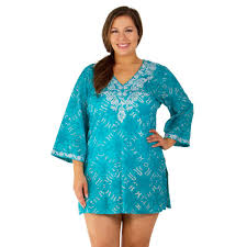 plus size cover up peppermint bay plus size tranquility tunic cover up swimsuits just