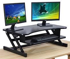 Standing Desk Extension Amazoncom Standing Desk Adjustable Height Desk Riser Sturdy