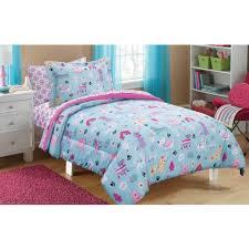 kids bedding set comforter bed in a bag complete bedsheets bedroom reversible