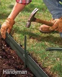edging for gardens. Photo 3: Support The Landscape Edgers With Stakes Edging For Gardens