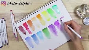 Mozart Brush Pens Color Swatch