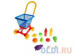 <b>Полесье Тележка Supermarket №1</b> + набор продуктов (в сеточке ...